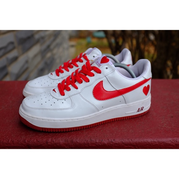 Nike Shoes Air Force 1 Valentines Day White Euc Poshmark